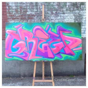 Graffiti Greed Canvas