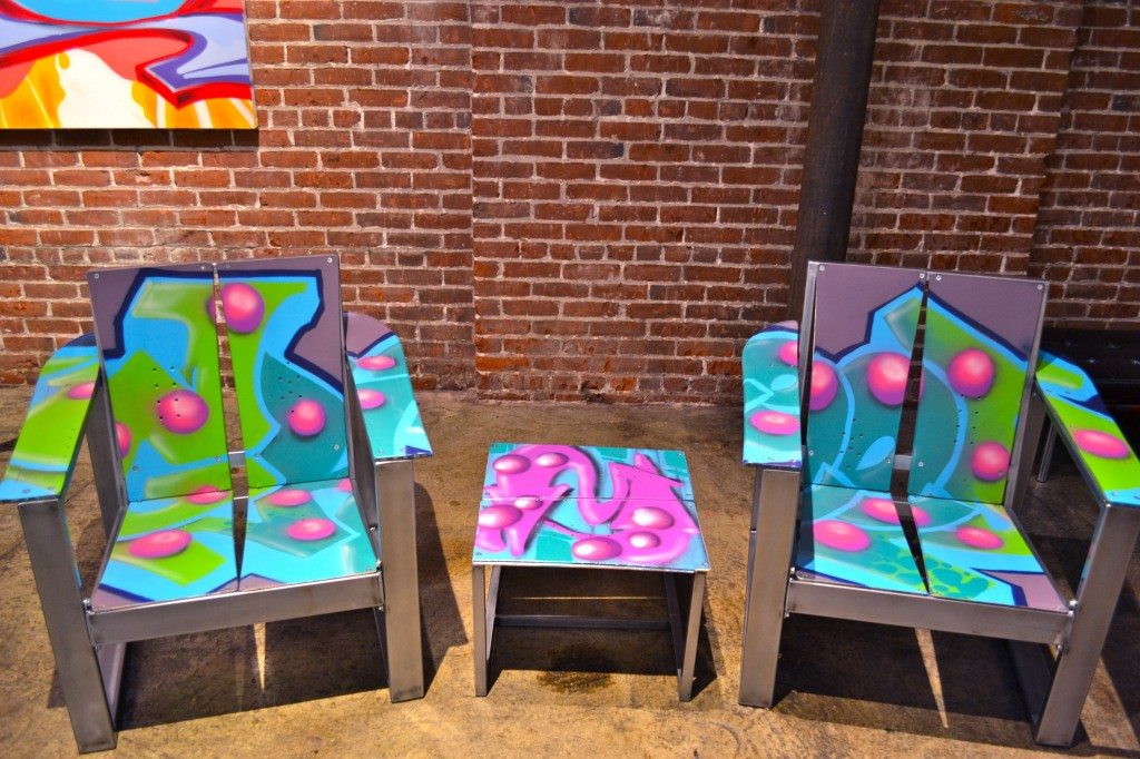 J Ryde / Graffiti Greed Chairs and Table